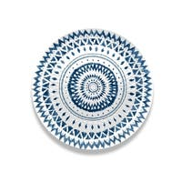 Indochine Ikat Round Hammered  Platter