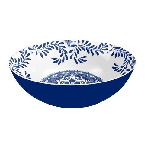Melamine Cobalt Casita Serve Bowl