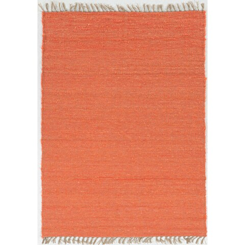 """Hand Woven Harrison in Coral Wool Area Rug ( 3'5"""" x 5'5"""" )"""
