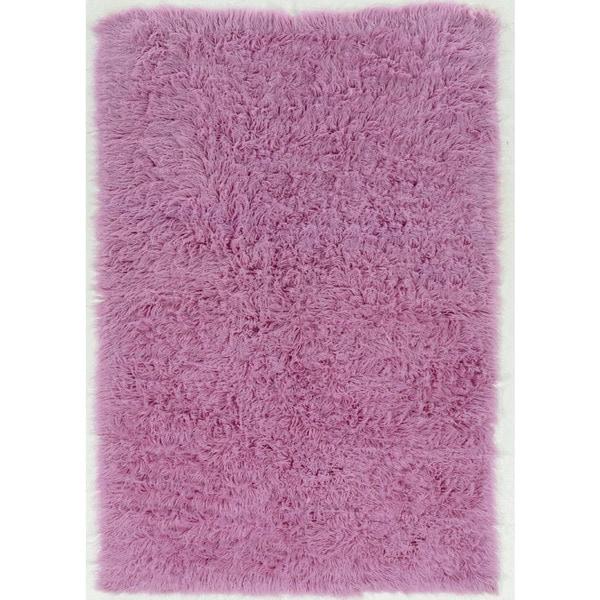 Hand Woven New Flokati 1400grams Lilac 100% Wool (2' X 3') - 2' x 3'