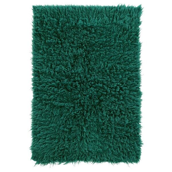 Hand Woven New Flokati 1400grams in Emerald Green 100% Wool ( 8' x 10' ) - 8' x 10'