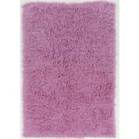 """Hand Woven New Flokati 1400grams in Lilac 100% Wool ( 3'6 x 5'6 ) - 3'6"""" x 5'6"""""""
