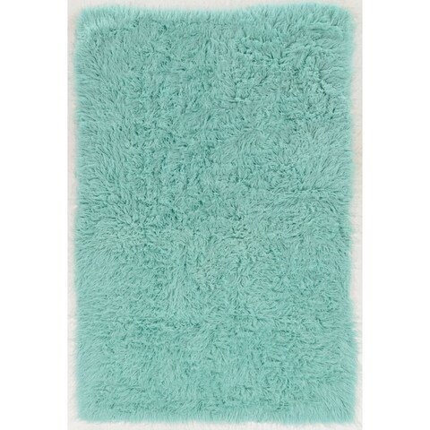 Hand Woven New Flokati 1400grams in Mint 100% Wool ( 3'6 x 5'6 )
