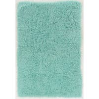 Hand Woven New Flokati 1400grams in Mint 100% Wool Area Rug ( 8' x 10' )