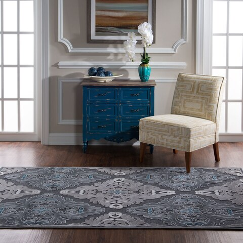 "Structure in Blue Chenille Area Rug ( 8' X 10'3"" )"