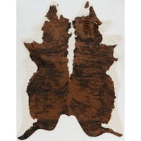 """Tufted and Printed Faux Cow Hide in Brown Area Rug ( 5' X 6'6"""" )"""