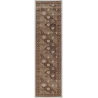 Linon Vintage Collection Belouch Beige Rug (2' X 10')