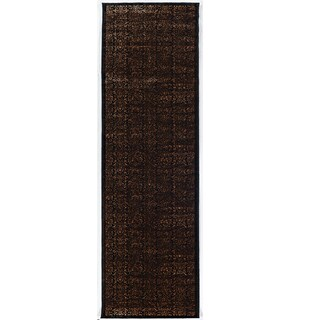 Linon Vintage Collection Illusion Brown Rug (2' X 10')