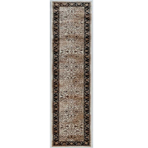 Linon Vintage Collection Isfahan Brown Rug (2' X 10') - 2' x 10' Runner