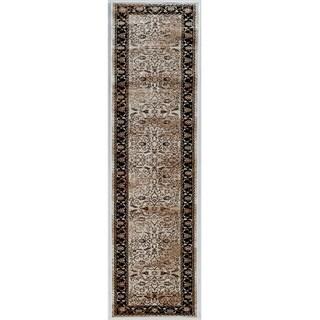 Linon Vintage Collection Isfahan Brown Rug (2' X 10')