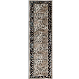 Linon Vintage Collection Isfahan Navy Rug (2' X 10')