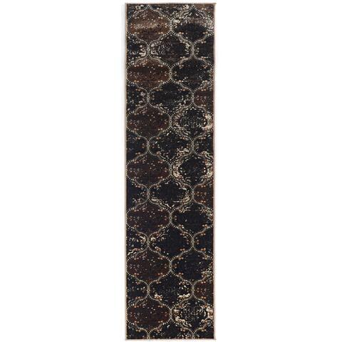 Linon Vintage Collection Marrakech Brown Rug (2' X 10') - 2' x 10' Runner