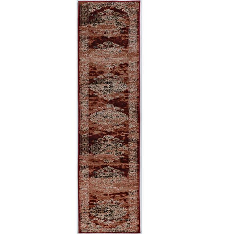 Linon Vintage Collection Nain Red Rug (2' X 10') - 2' x 10' Runner