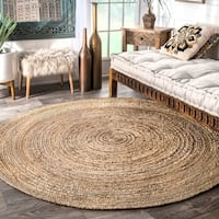 Havenside Home Duck Reversible Natural Fiber Jute Area Rug (6' Round)