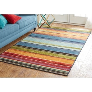 The Curated Nomad Sultan Striped Multicolor Runner Rug - 2' x 8'