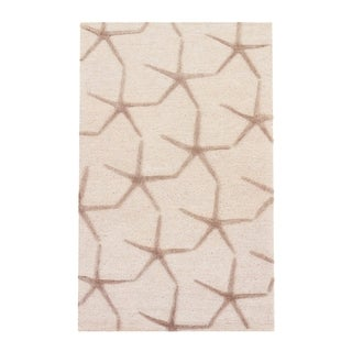 The Curated Nomad Posas Handmade Starfish Beige/ Grey Area Rug - 2' x 3'