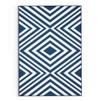 Havenside Home Rowayton Navy Indoor/ Outdoor Area Rug - 1'8 x 3'7