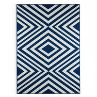 Havenside Home Rowayton Navy Indoor/ Outdoor Area Rug - 8'6 x 13'