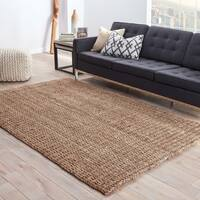 Havenside Home Southport Natural Solid Taupe Area Rug - 5' x 8'