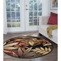 Havenside Home Miami Black Transitional Area Rug (5'3 in diameter)