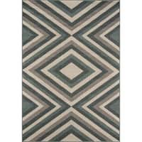 "Momeni Baja Rowayton Sage Indoor/ Outdoor Area Rug - 1'8"" x 3'7"""
