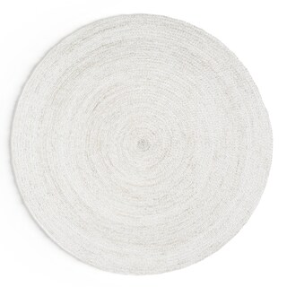 Havenside Home La Jolla Eco Natural Fiber Braided Reversible Round Jute Area Rug - 4' Round