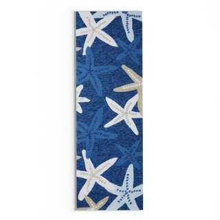 Havenside Home Shi Shi Indoor/ outdoor Blue Starfish Area Rug - 2' x 6'
