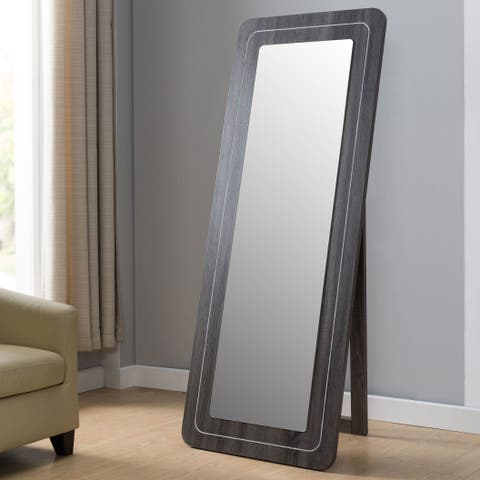 Paysen Contemporary 72-inch Distressed Grey Full Length Mirror by FOA - A/N