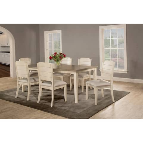 The Gray Barn Steeplechase 7-piece White Rectangle Dining Set