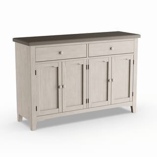 The Gray Barn Steeplechase Grey White Wood Server