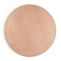 Havenside Home Clearwater Natural Fiber Reversible Cotton Border Jute Beige Round Area Rug - 8' Round