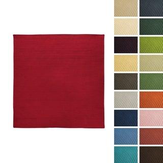 Porch & Den Oakland Solid-colored Reversible Indoor/ Outdoor Braided Area Rug - 7' x 7'