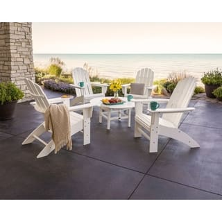 POLYWOOD® Vineyard 5-Piece Outdoor Oversized Adirondack Chair and Table Set