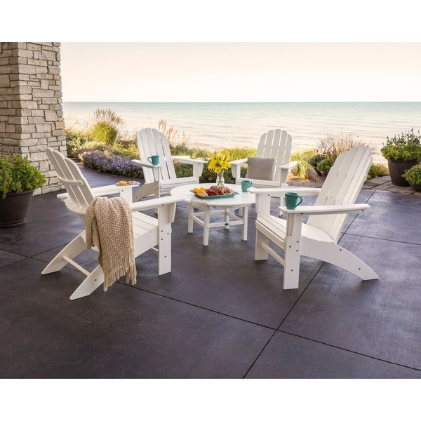 Polywood Vineyard 5 Piece Outdoor Oversized Adirondack Chair And Table Set