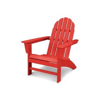 POLYWOOD Vineyard Outdoor Adirondack Chair (Option: Sunset Red)