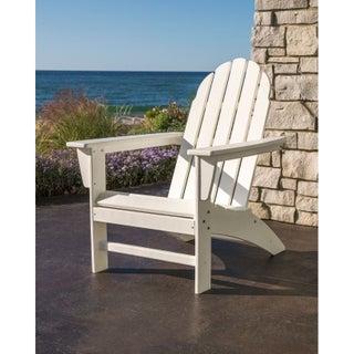 POLYWOOD Vineyard Outdoor Adirondack Chair (Option: White)