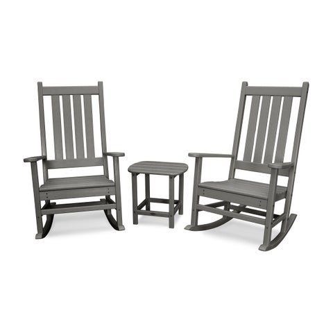POLYWOOD Vineyard 3-Piece Outdoor Rocking Chair Set