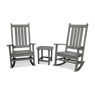POLYWOOD® Vineyard 3-Piece Outdoor Rocking Chair Set