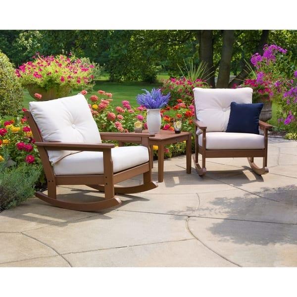 Enjoyable Shop Polywood Vineyard Outdoor Deep Seating Rocking Chair Unemploymentrelief Wooden Chair Designs For Living Room Unemploymentrelieforg