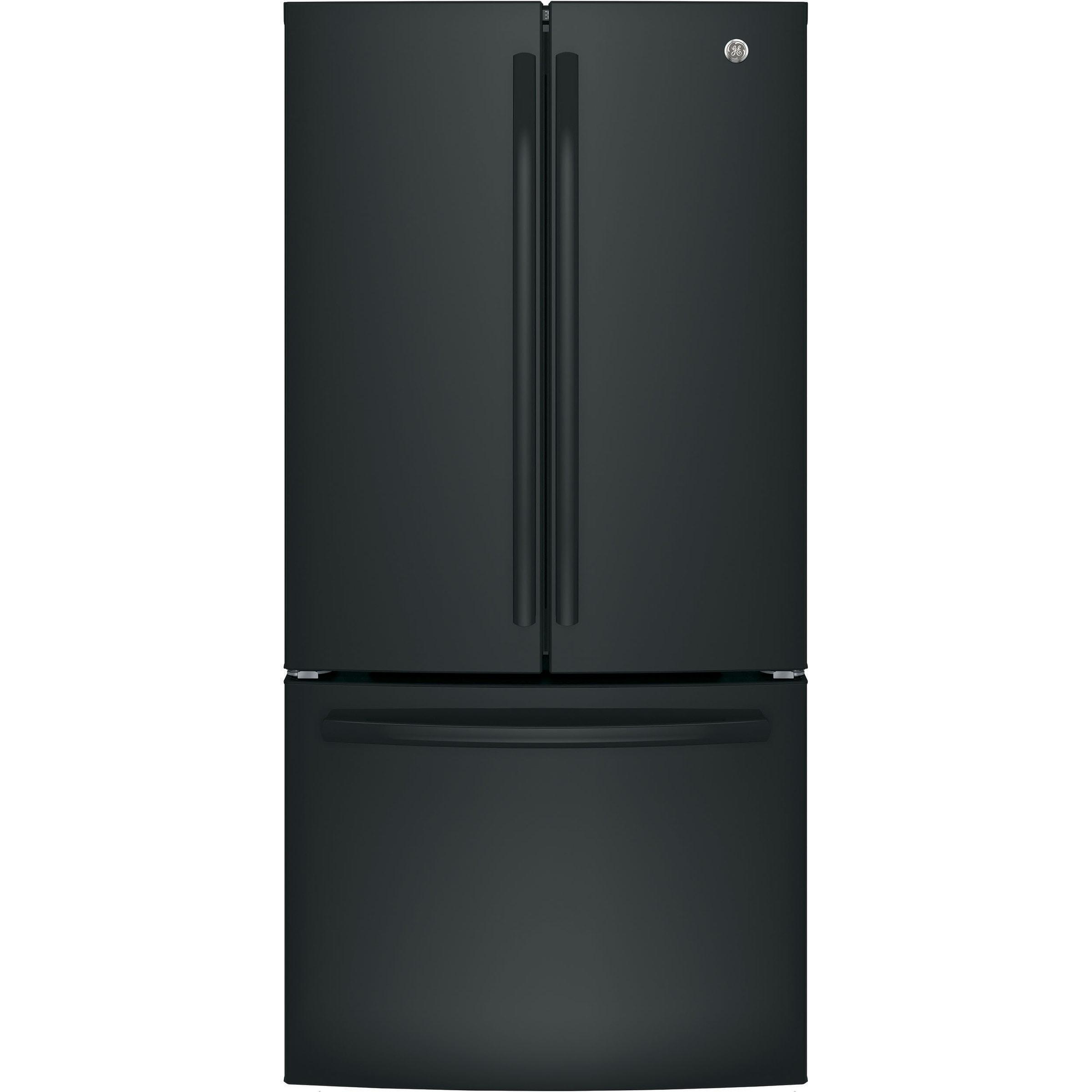 GE ENERGY STAR 18.6 Cu. Ft. Counter-Depth French-Door Refrigerator in Black Black - 4.1 - 5 cu. ft. - 3