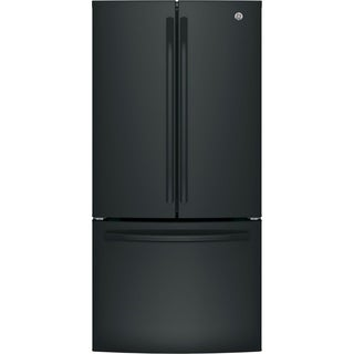 GE ENERGY STAR 18.6 Cu. Ft. Counter-Depth French-Door Refrigerator in Black