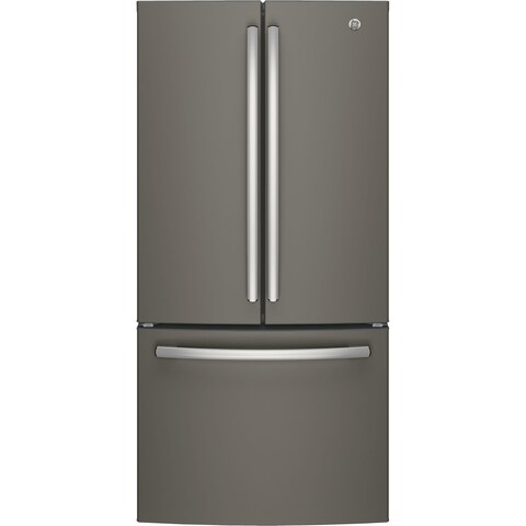 GE ENERGY STAR 18.6 Cu. Ft. Counter-Depth French-Door Refrigerator in Slate
