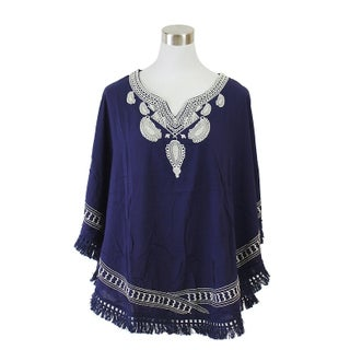Le Nom Spring and Summer Embroidered Poncho (2 options available)