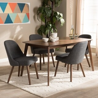 Mid-Century Fabric Upholstered 5-Piece Dining Set by Baxton Studio (2 options available)