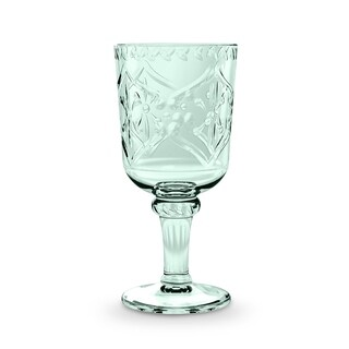16.9 Oz Scroll Cut Goblet Bottle Green