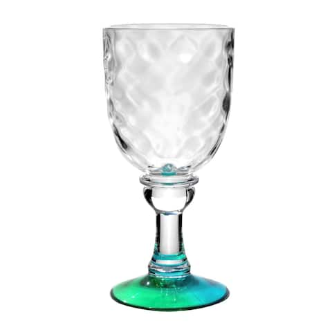 Kaleidoscope 13.3 Oz. Valencia Goblet Blue/Green