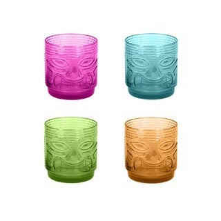 18 Oz Tiki Drinkware Set Of 4 Dof