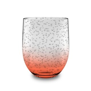 16 Oz Bubble Stemless Coral