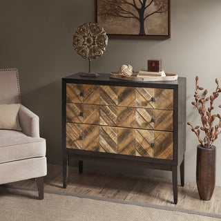 Madison Park Renton Brown Accent Chest with 3 Drawers