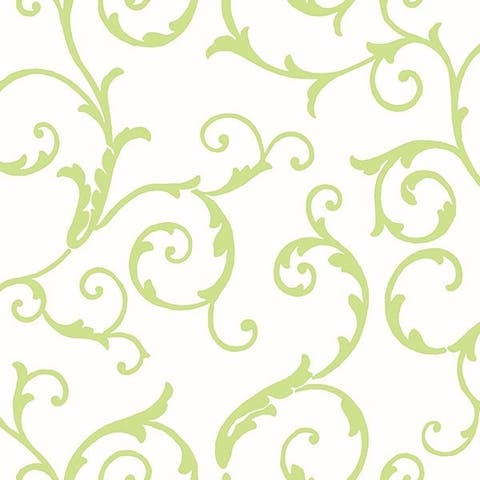 Tessa Green Scrolly Swirls Wallpaper
